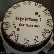 Border Chocolate Cake