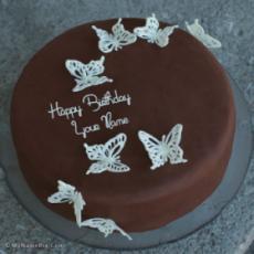 Chocolate Butterflies Birthday Cake