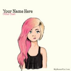 Colorful Hair Girl