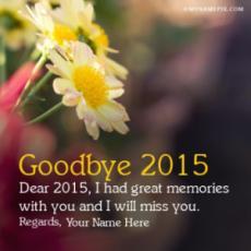 Goodbye 2016 Wishes