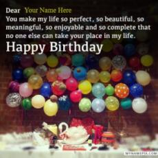 Happy Birthday Wishes for Lover With Name