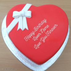 Heart Birthday Cake for Lover