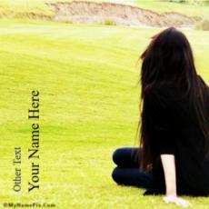 Alone Girl Waiting