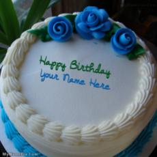 Blue Flower Icecream Cake