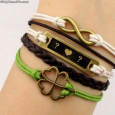 Golden Charm Initial Bracelets