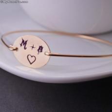 Love Heart Initial Bracelet