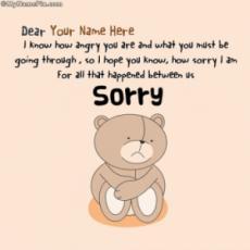 Sorry Dear Forgive Me