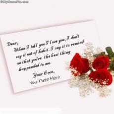 Sweet Love letter