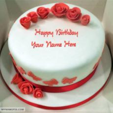 Roses Red Velvet Birthday Cake