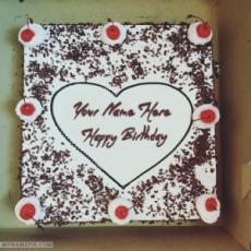 Square Black Forest Birthday Cake