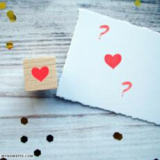 Write Couple Name Alphabets on Love Note
