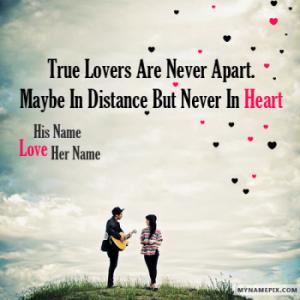 Amazing Couple Love Quote Image With Name