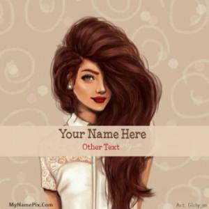 Awesome Hair Girl Image With Name