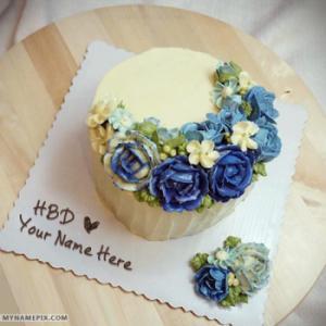 Beautiful Ice Cream Birthday Cake With Name