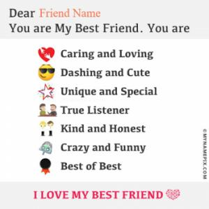 Beautiful Note For Best Friend Image With Name