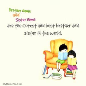 Best Brother Sister Image With Name