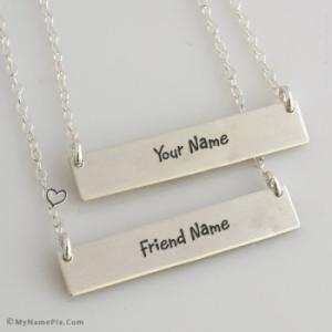 Best Necklace For Friendship Image With Name