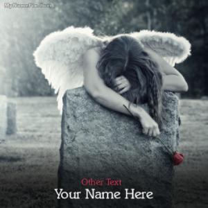 Broken Angel Girl Image With Name