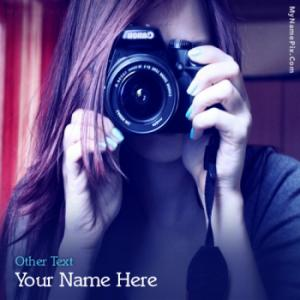 Camera Girl Image With Name