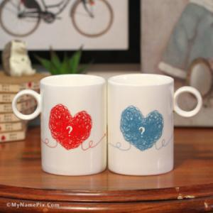 Couple Love Cups With Name