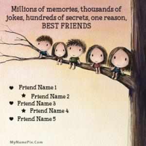 Cute Best Friends Image With Name
