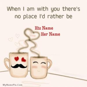 Cute Couple Cups Image With Name