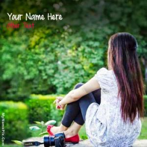 Cute Girl Waiting Image With Name