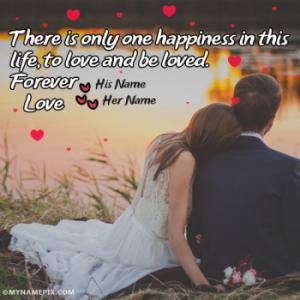 Forever Love Couple Images With Name Image With Name