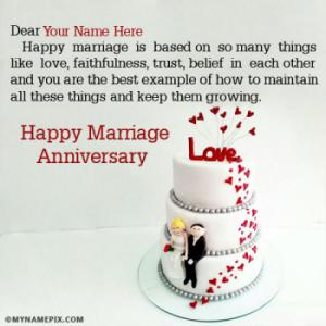 Happy Marriage Anniversary Wishes With Name