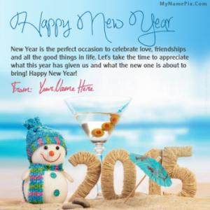 Happy New Year With Name
