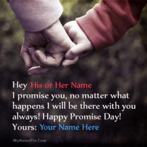 Happy Promise Day Couple With Name