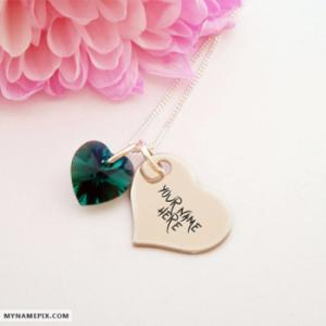 Personalized Heart Nick Necklace With Name