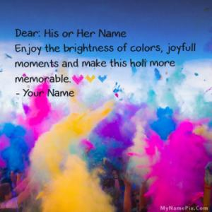Holi Wishes With Name
