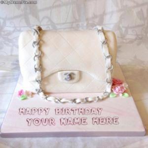 Bag Girly Cake With Name