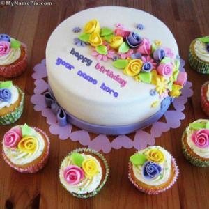 Beautiful Birthday Cake Writing With Name