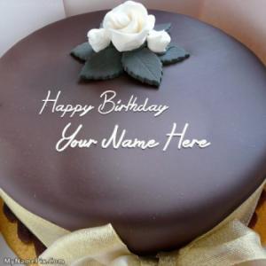 Beautiful Chocolate Cake With Name