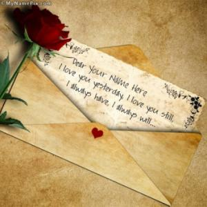 Beautiful Love Letter Image With Name