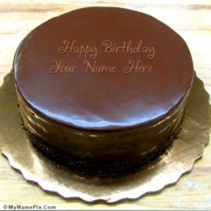 Birthday Chocolate Cake With Name