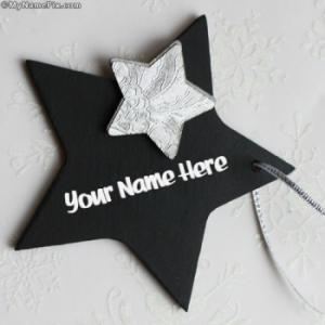 Black Star Image With Name