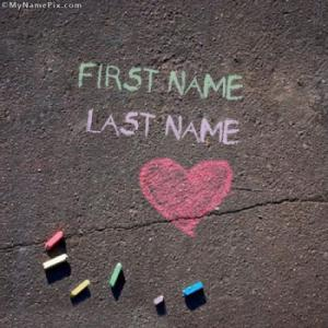 Chalk Writing Image With Name