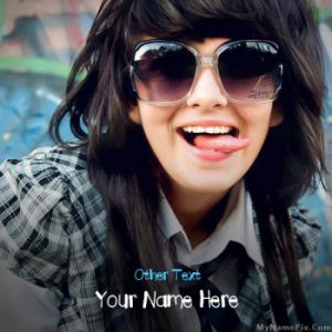 Crazy Girl Image With Name
