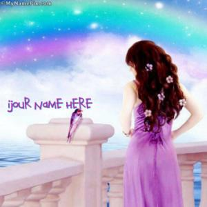 Fantasy Girl Colorful Image With Name