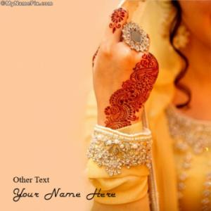 Girl Mehndi Image With Name