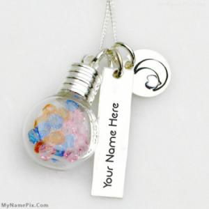 Personalized Glass Vial Necklace With Name
