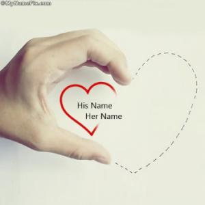 Hand Heart Image With Name