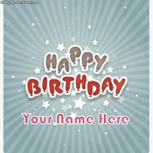 Happy Birthday With Name