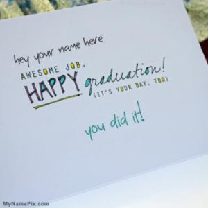 Happy Graduation With Name