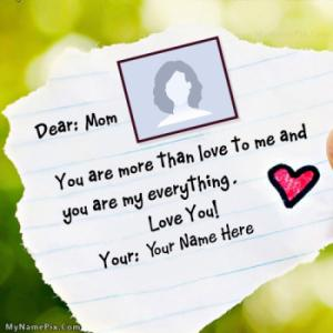 Happy Mothers Day With Name