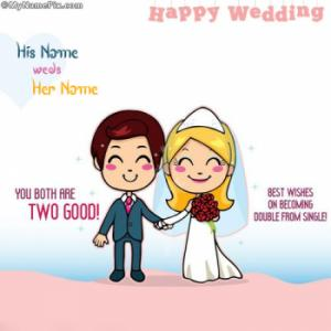 Happy Wedding With Name