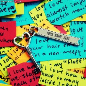 Heart Key Image With Name